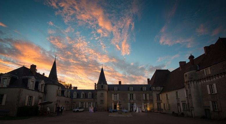 Chateau de LaLande - evening sky